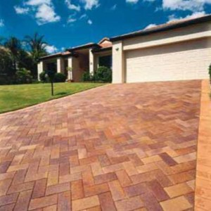 baked clay pavers driveway
